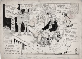 DORGAN, TAD - Outdoor Sports daily 9/16 1920s Theatre producer mobbed Comic Art