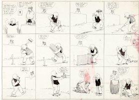 DORGAN, TAD - Judge Rummy Sunday 1920s, Judge & wife grow corn Comic Art