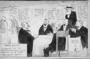 DORGAN, TAD - Indoor Sports 1920s daily cartoon - Drink Comic Art