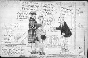 DORGAN, TAD - Outdoor Sports 1920s daily cartoon - Party Comic Art