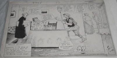 DORGAN, TAD - Indoor Sports 1920s daily cartoon - with Puppy Comic Art