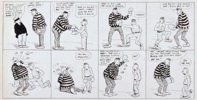 DORGAN, TAD - City Life Sunday 9/21 1919, boxing Comic Art