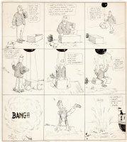 DORGAN, TAD - Dorgan Bonehead Sunday, early Baseball hero, airship gag, 1900s   Comic Art