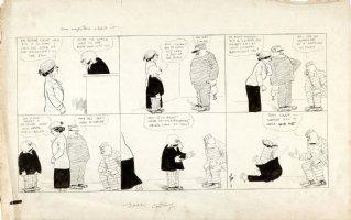 DORGAN, TAD - Judge Rummy Sunday, Judge, Bailiff, prisoner 5/4 1919 Comic Art