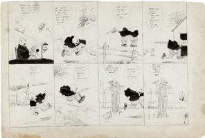 DORGAN, TAD - Judge Rummy Sunday, Judge and puppy, 6/24 1917 Comic Art