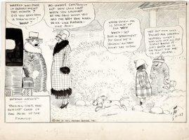 DORGAN, TAD - Outdoor Sports daily, report card & speeding ticket, 11/27 1923 Comic Art