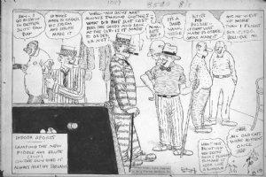 DORGAN, TAD - Indoor Sports 1920s daily cartoon - playing pool Comic Art