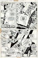 TRIMPE, HERB / JOHN SEVERIN- Hulk #15 pg 17, Hulk & flying Antman vs Hydra 1972 Comic Art