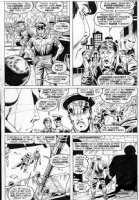 TRIMPE, HERB - Avengers Annual #6 pg 42, Vision solo, arrested by NYPD Comic Art