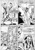 TRIMPE, HERB - Avengers Annual #6 pg 44 Vision vs Whirlwind Comic Art