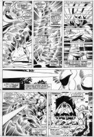 TRIMPE, HERB - Avengers Annual #6 pg 45 Vision vs Whirlwind Comic Art
