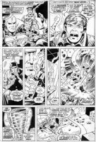 TRIMPE, HERB - Avengers Annual #6 pg 43, Vision solo, booked by NYPD, Whirlwind escapes Comic Art