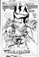 ZECK, MIKE / JERRY ORWAY - JSA Classified #16 cover, Star Girl, Wildcat, Vixen Comic Art