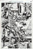 McMANUS, SHAWN - Venom & Ghost Rider Spirit of Vengence TP Pinup 1992 Comic Art