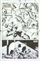 McMANUS, SHAWN - Marvel Comics Presents #109 semi-splash pg 14, Thanos Comic Art