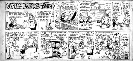 HATLO, JIMMY - Little Iodine Sunday 3/13 1960, pop versus rock fans clubs Comic Art