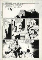 MIGNOLA, MIKE / KEVIN NOWLAN - Batman Villains Secret Files & Origin pg 9, Robin vs Clayface, drawn 1988 - 1990 Comic Art