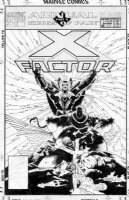 MIGNOLA, MIKE - X-Factor Annual #6 cover, X-crossover, classic X-Men team Comic Art