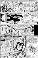 FRADON, RAMONA - Plastic Man #13 pg 19, Plas & Woozy play poker, Robby dials 2 of his classic heroes Comic Art