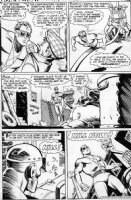 FRADON, RAMONA - Plastic Man #13 pg 10 Plas about to meet killer robot Comic Art