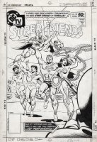 FRADON, RAMONA - Super Friends #35 cover, Batman & Robin, Superman, Wonder Woman greet their public  Comic Art