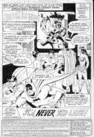 FRADON, RAMONA - Super Friends #22 pg 1 splash Superman, WW, Batman, Wonder Twins Comic Art