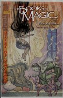 KALUTA, MIKE - Books of Magic #35 painted cover w/ logo overlay, Queen Titania & Molly 1997 Comic Art
