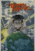 KALUTA, MIKE - Books of Magic #42 painted cover w/ logo overlay, Tim Hunter & Molly 1997 Comic Art