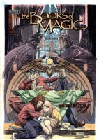 KALUTA, MIKE - Books of Magic #67 Painted Cover w/ logo overlay, Tim Hunter / Joh / Accasbel / Tamlin / Queen Titania1999 Comic Art