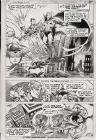 KALUTA, MIKE - Superman #400 pg 6, incredibly rare page by Kaluta from the special issue. All lettering on an overlay so you can see every beautiful line that Kaluta drew! Comic Art
