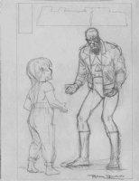 BOLLAND, BRIAN - Animal Man #22 cover pencil, Grant Morrison story / AMan leather costume Comic Art