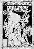 BOLLAND, BRIAN - Adventure Comics #475 cover, bigger, combo issue - 1st Aquaman, Plasticman, Starman - No infinity EFX 1980 Comic Art