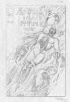 BOLLAND, BRIAN - Animal Man #52 pencil cover, Animal Man & Animals death theme Comic Art