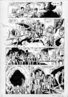 BOLLAND, BRIAN / TERRY AUSTIN inks - Camelot 3000 #11 pg 11, full cast/ aliens Comic Art
