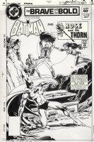 APARO, JIM - Brave and Bold #188 cover, Batman & Rose and Thorn Comic Art