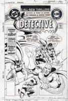 APARO, JIM - Detective Comics #493 cover; Batman, Batgirl, Robin, Red Tornado jam cover Comic Art
