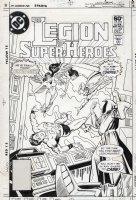 APARO, JIM - Legion of Superheroes #282 cover, Legion vs Time Trapper (key to Legion continuity) Comic Art