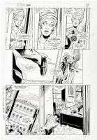 APARO, JIM - Batman #440 pg 21, 1st Tim Drake spots Starfire in towels Comic Art