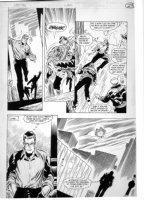 APARO, JIM - Wraith of Spectre #4 pg 23 - last Adventure Comics 1970s story - hero saved, Spectre in sky Comic Art