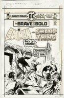 APARO, JIM - Brave And The Bold #122 cover, Batman & Swamp Thing 1975 Comic Art