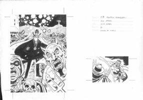 APARO, JIM - Phantom Stranger DC card art, front & back  Comic Art