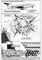 APARO, JIM - Batman #419 pg 1 splash;  Ten Nights of the Beasts!  - Airplane bombing, Lockerbie theme Comic Art