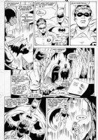 APARO, JIM - Batman #415 pg 8, Batman & Robin in batcave  Comic Art