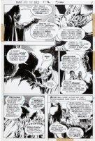 APARO, JIM - Brave And The Bold #112 pg 4, Batman & Bat close-up Comic Art