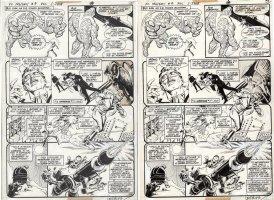 GARCIA-LOPEZ, JOSE LUIS - DC Presents #4 pg, Hawkman & Hawkgirl, Chemo & IQ 1978 Comic Art