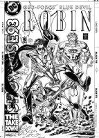 GARCIA-LOPEZ, JOSE LUIS - DC Showcase '93 #5 cover, Robin, Outsiders, Blue Devil Comic Art