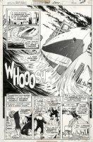 GARCIA-LOPEZ, JOSE LUIS - Superman #301 splashy pg 16, Supes lifts ship & Solomon Grundy meets Golden-Age Grundy Comic Art
