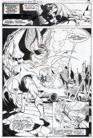 GARCIA-LOPEZ, JOSE LUIS - World's Finest #255 pg 14, splashy page, Batman, giant bat & Bat cult Comic Art