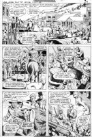 GARCIA-LOPEZ, JOSE LUIS - Weird Western Tales #38 pg 24, Jonah Hex rides into town 1976 Comic Art