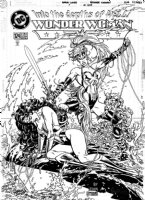 GARCIA-LOPEZ, JOSE LUIS - Wonder Woman #124 cover, WW defeated by Artimis- the New Wonder Woman Comic Art